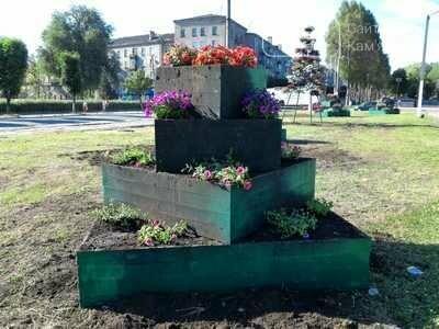 Центр Каменского украсили цветами, фото-2