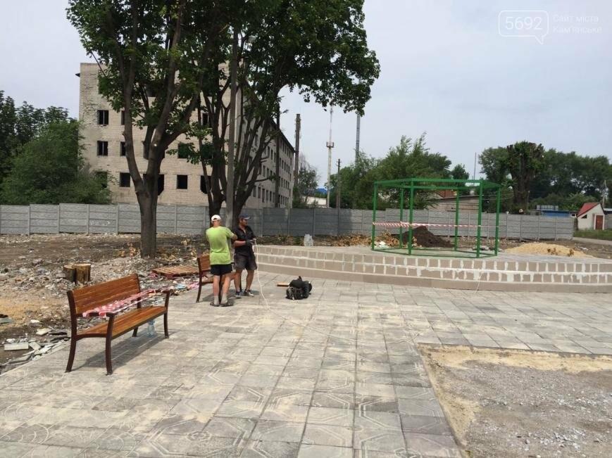 В Каменском жителям поселка Строителей создают зону отдыха, фото-2