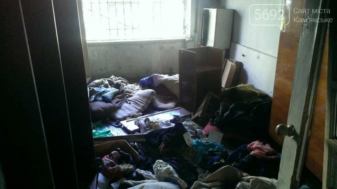 В Каменском тушили пожар в заброшенной квартире на Грушевского, фото-1