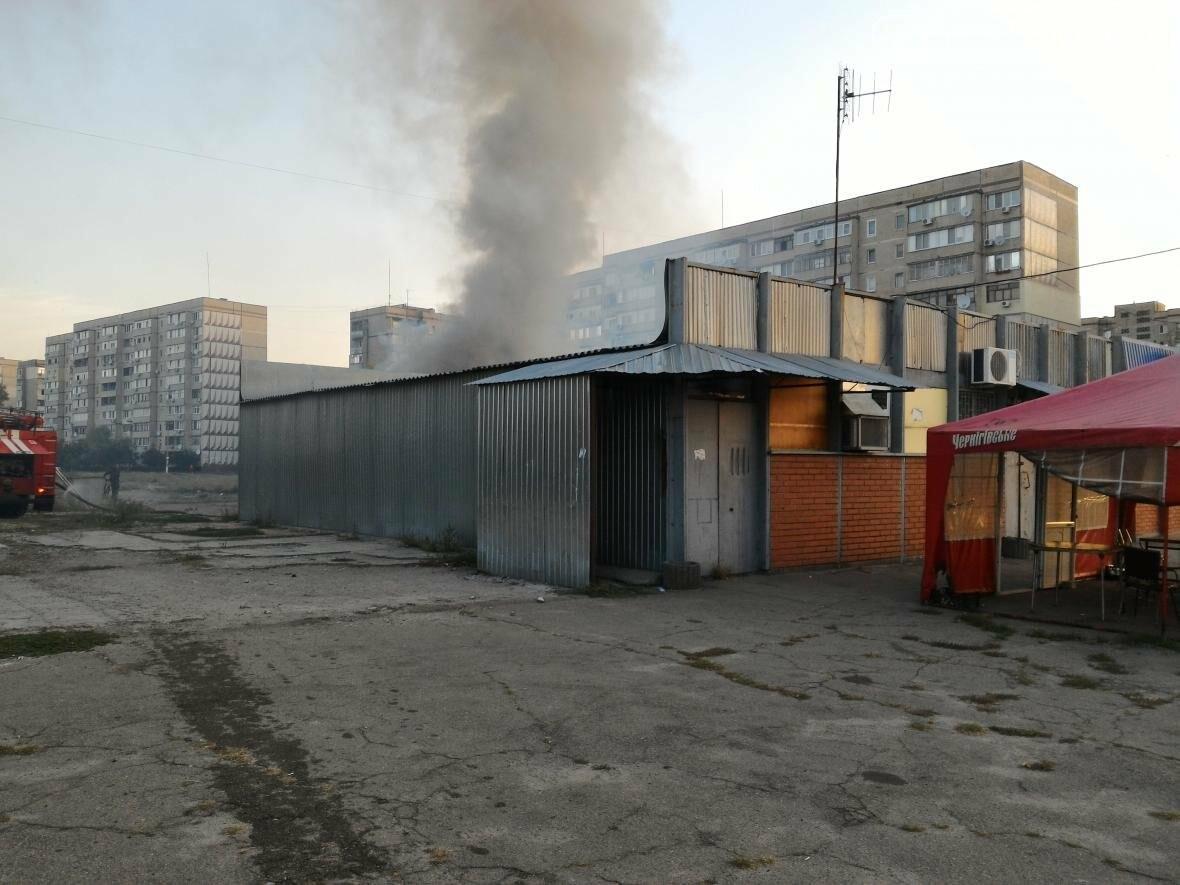 В Каменском на бульваре Освободителей вспыхнул пожар, фото-2