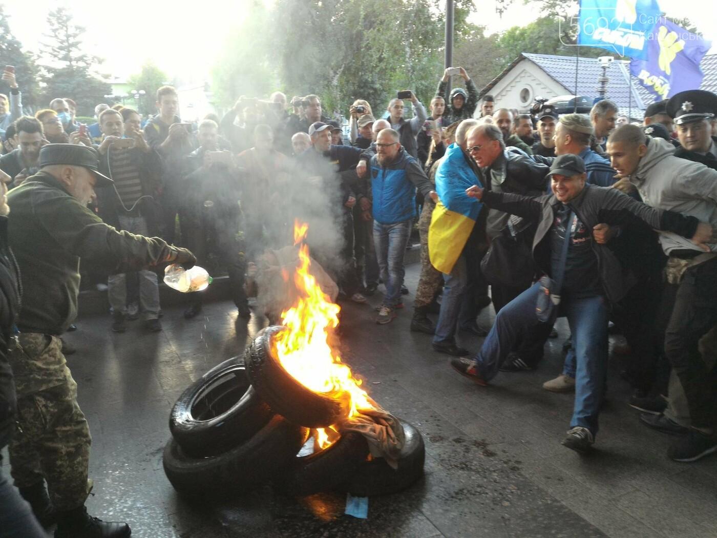 В Каменском состоялся митинг у заводоуправления ДМК , фото-5