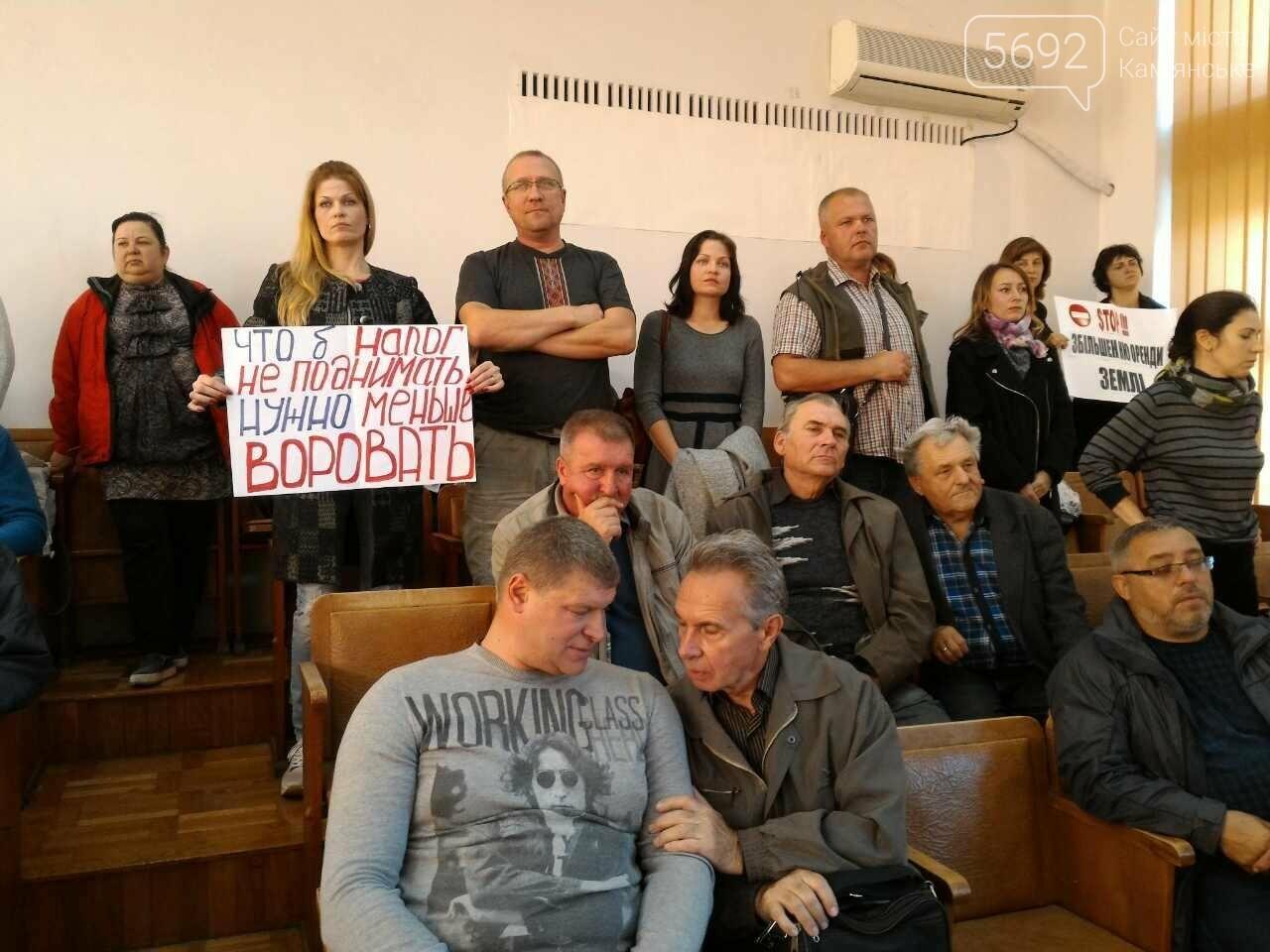 Предприниматели Каменского протестуют против повышения налога на землю, фото-2