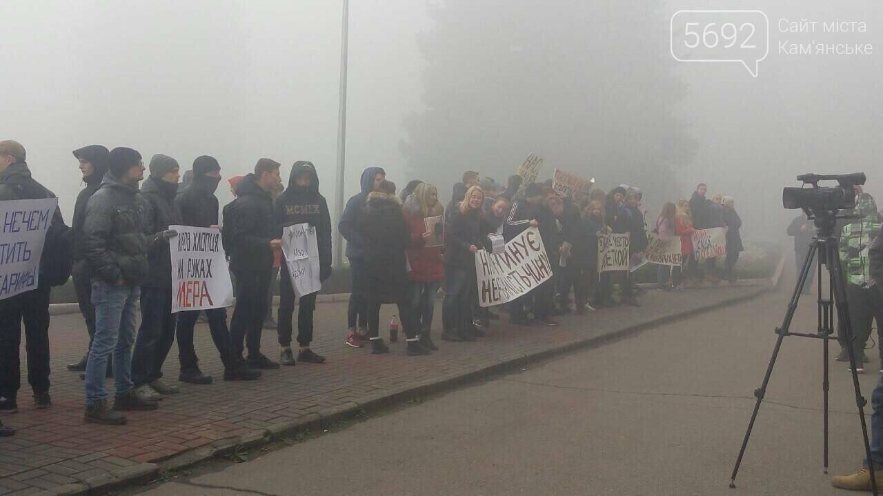 Каменчане митингуют возле здания городского совета , фото-3