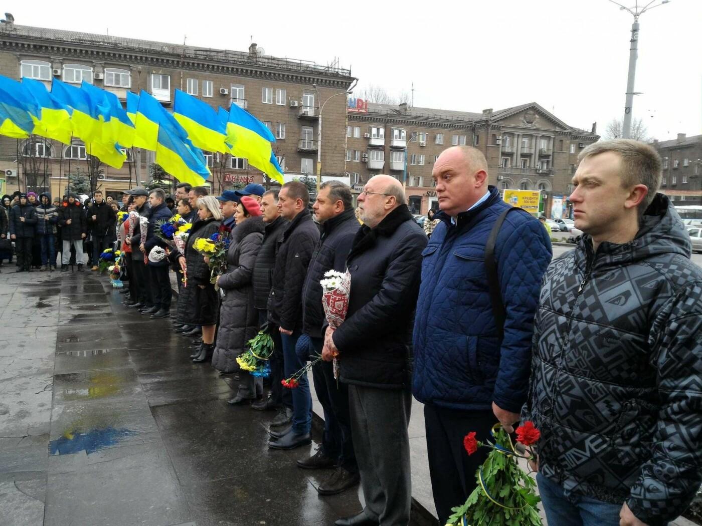 В Каменском возложили цветы к мемориалу бойцам АТО на майдане Героев, фото-3