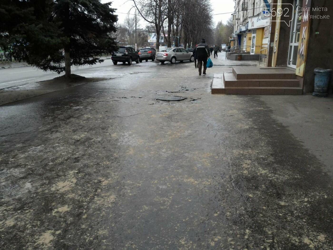 Обуваем ледоходы: дороги Каменского накрыл гололед, фото-3