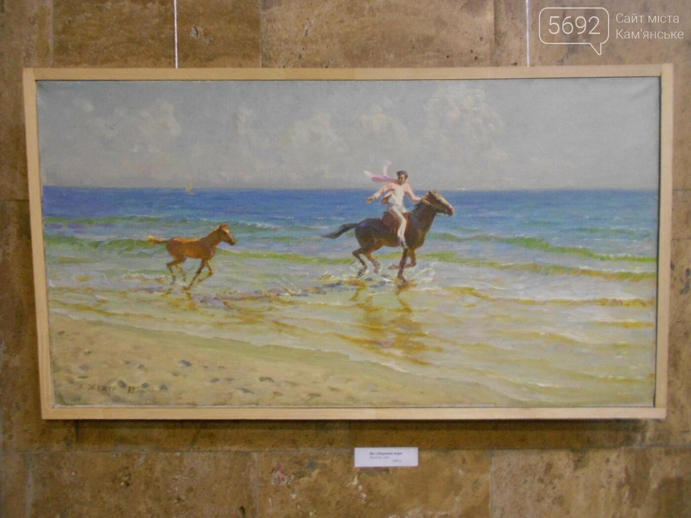 В Каменском открылась юбилейная выставка известного художника Анатолия Жежера, фото-12