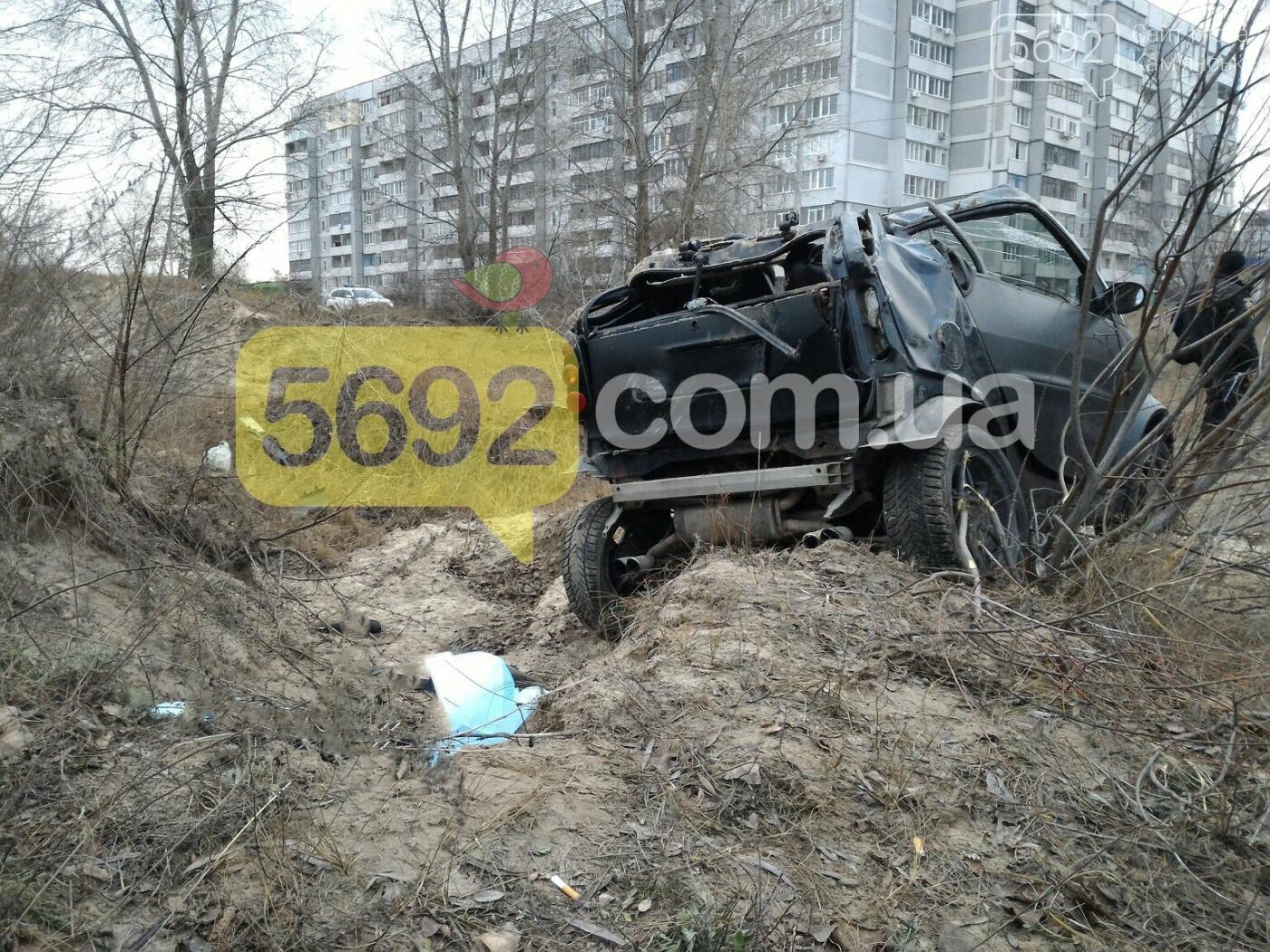 ДТП в Каменском: Smart вылетел в кювет, один погибший, фото-5
