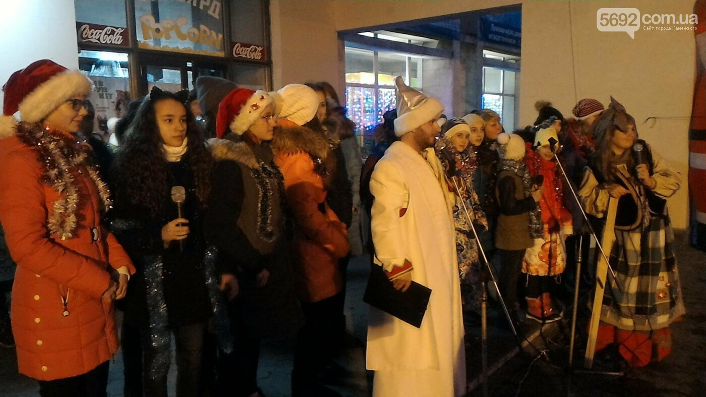 В Каменском открыли новогоднюю елку, фото-2