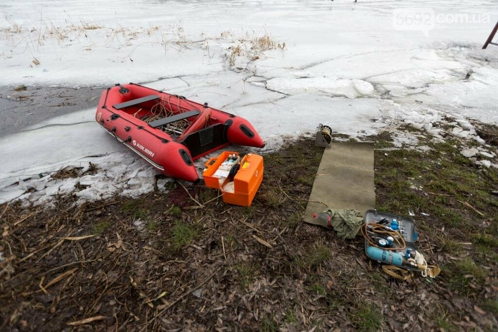В Каменском «спасали» провалившихся под лед, фото-8