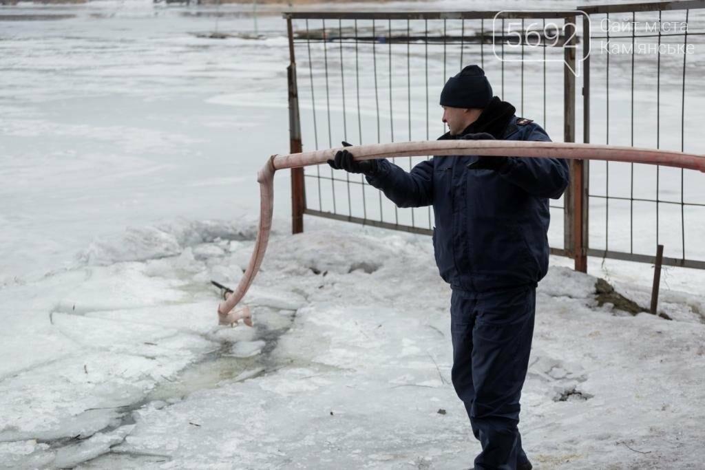 В Каменском «спасали» провалившихся под лед, фото-5