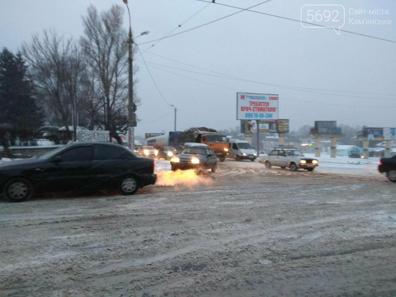 В Каменском – транспортный коллапс из-за непогоды, фото-3