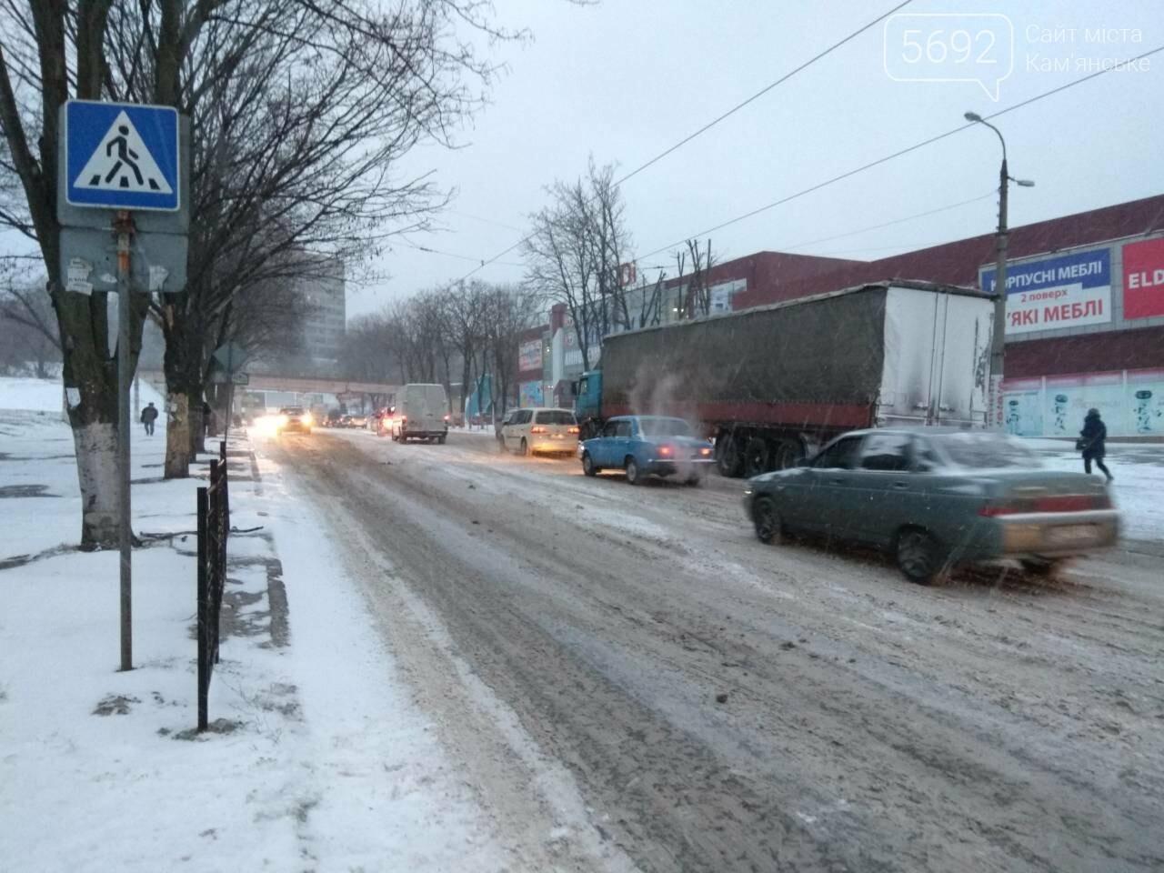 В Каменском – транспортный коллапс из-за непогоды, фото-6