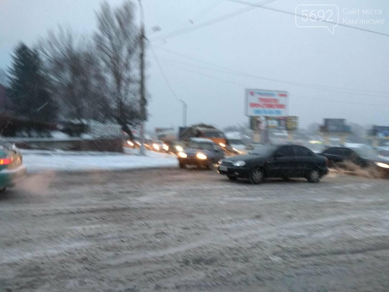 В Каменском – транспортный коллапс из-за непогоды, фото-4