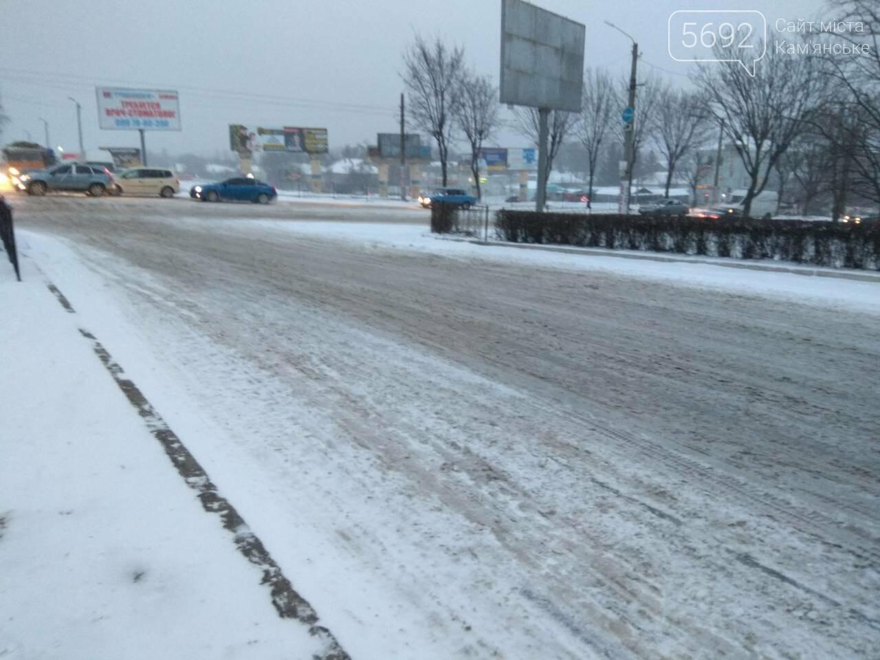 В Каменском – транспортный коллапс из-за непогоды, фото-8