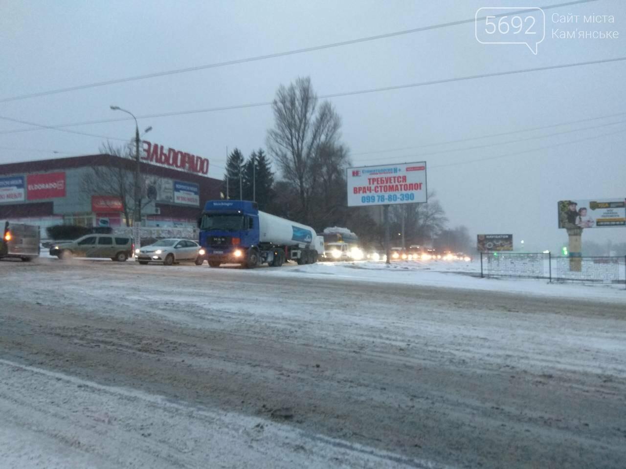 В Каменском – транспортный коллапс из-за непогоды, фото-9