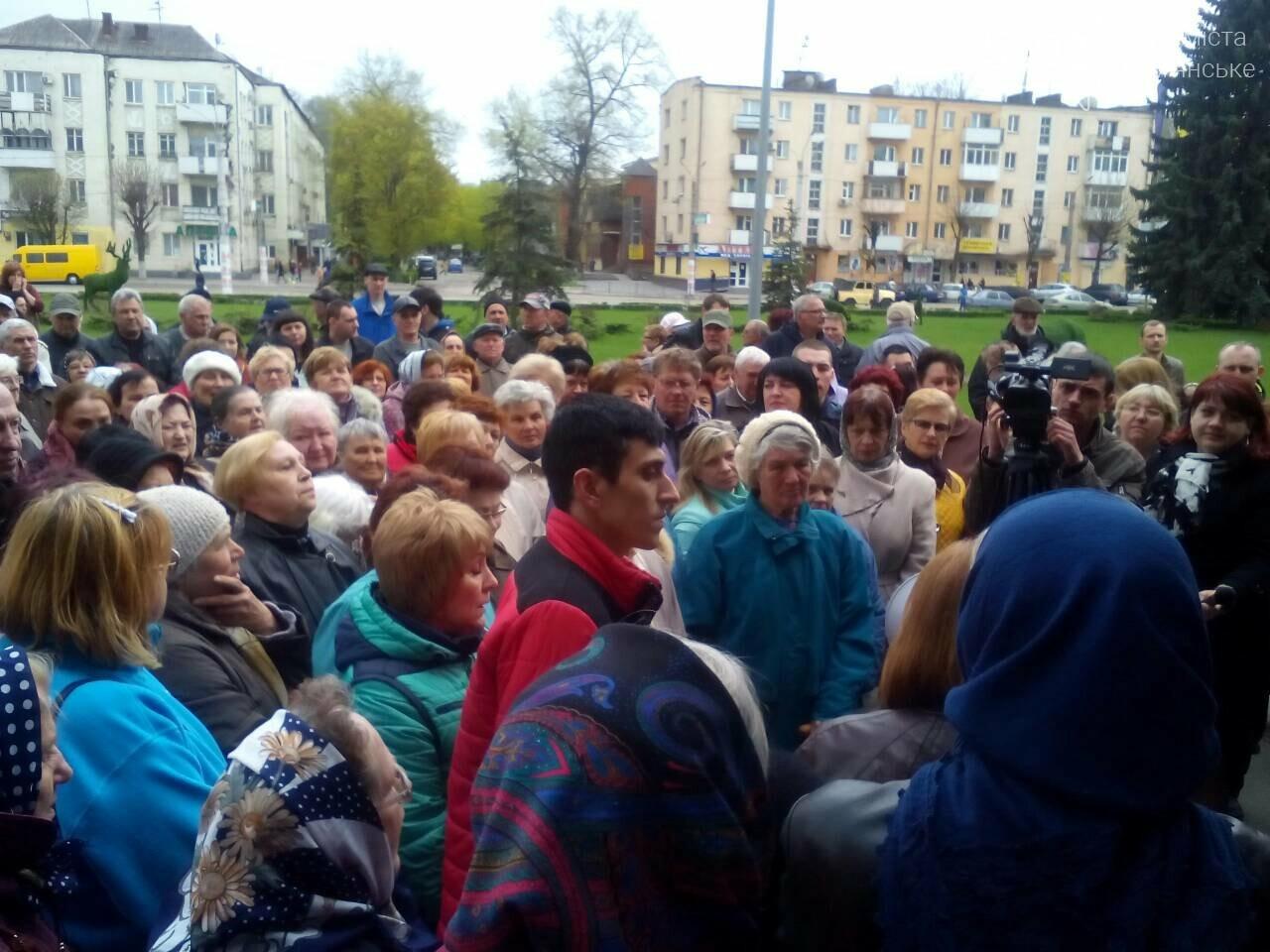«Тарифный бунт» начался: в Каменском стартовал митинг против повышения тарифов УКОЖФ, фото-6