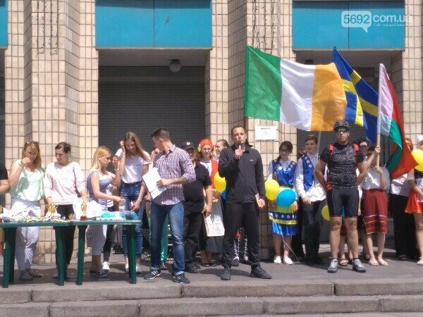 Велодень в Каменском: соревновались в креативности и поднимали флаг ЕС, фото-7