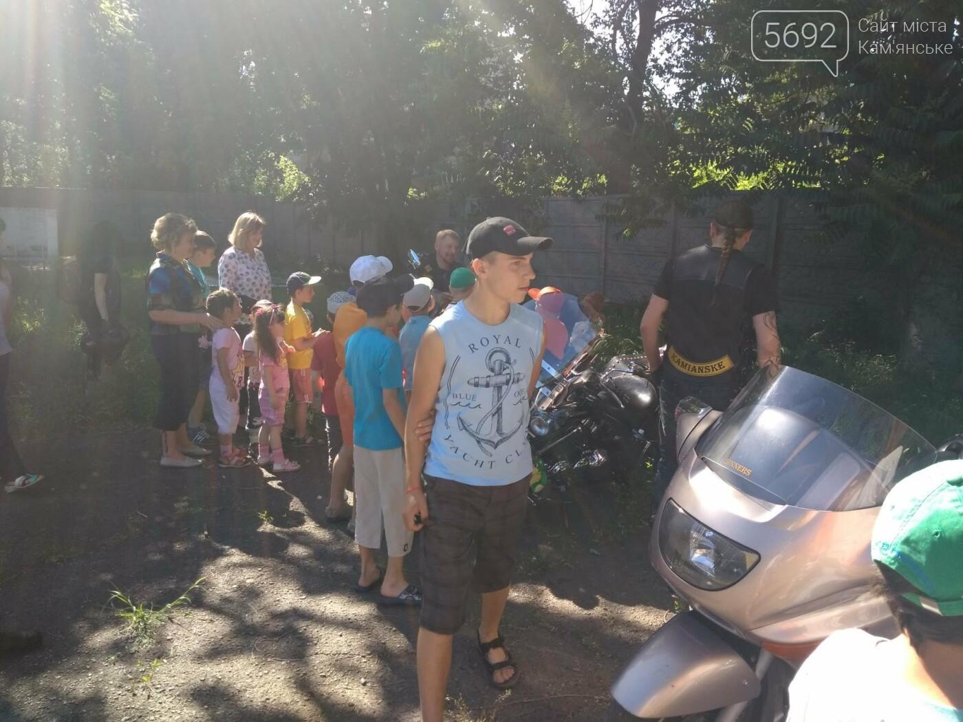 Байкеры Каменского прокатили на мотоциклах детей-сирот, фото-6