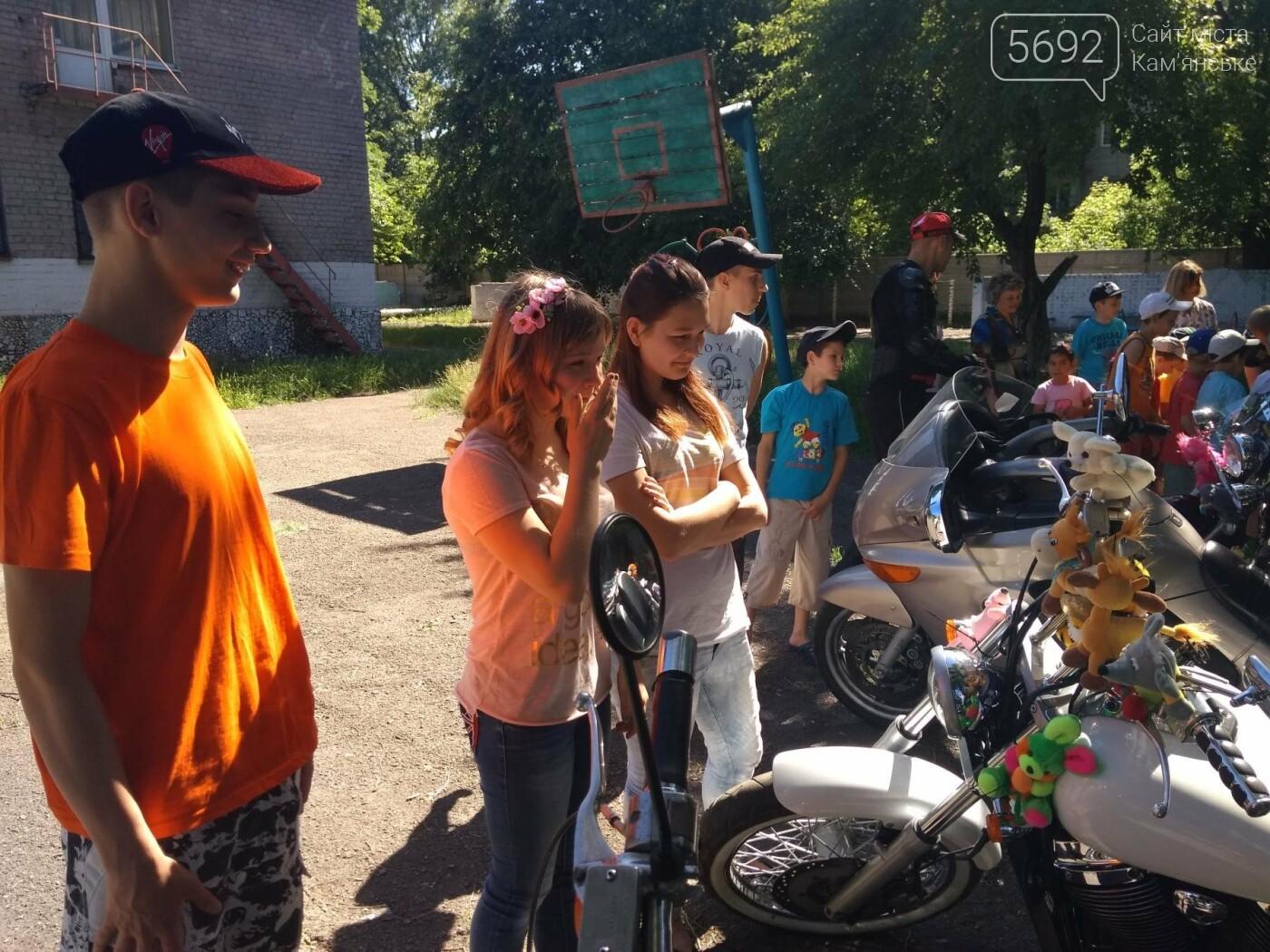 Байкеры Каменского прокатили на мотоциклах детей-сирот, фото-16