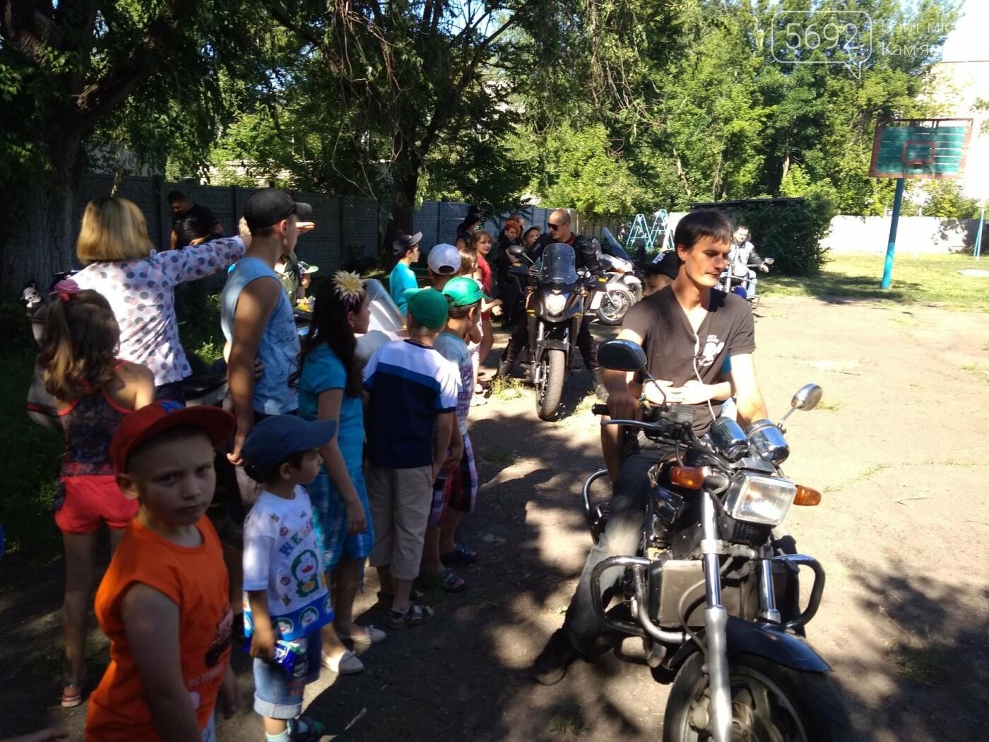 Байкеры Каменского прокатили на мотоциклах детей-сирот, фото-21