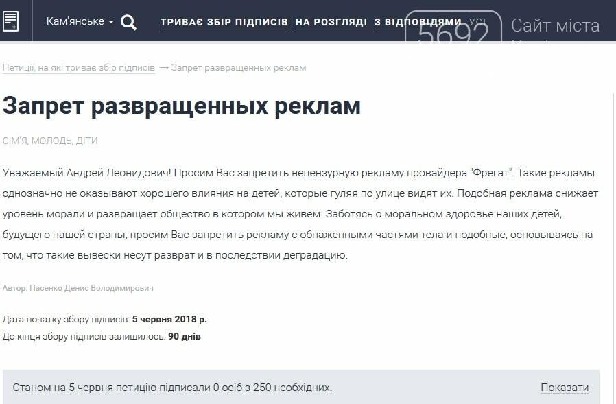 В Каменском просят запретить «нецензурную рекламу», фото-1