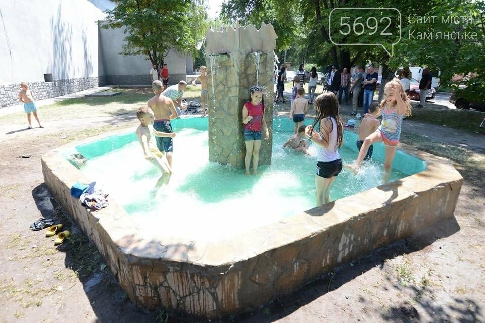 В Южном районе Каменского запустили новый фонтан, фото-5