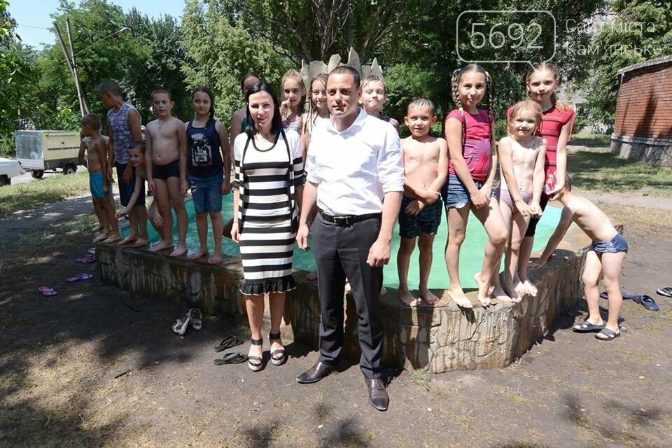 В Южном районе Каменского запустили новый фонтан, фото-10