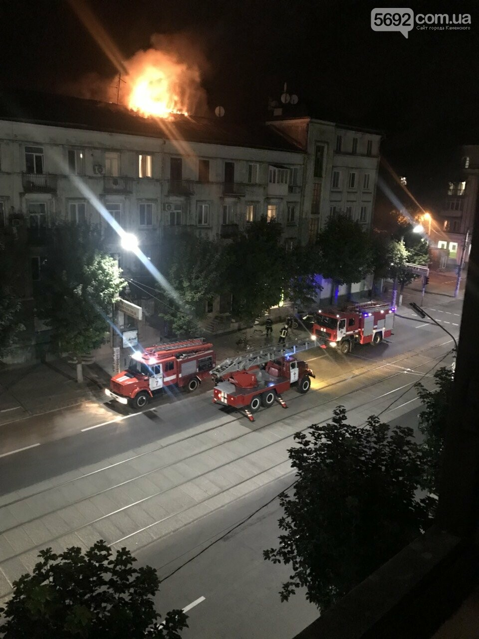 В Каменском на Тараса Шевченко ликвидировали крупный пожар, фото-1