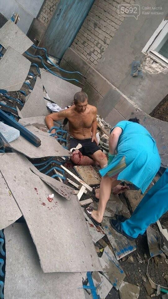 В Каменском упал балкон: есть пострадавшие, фото-3