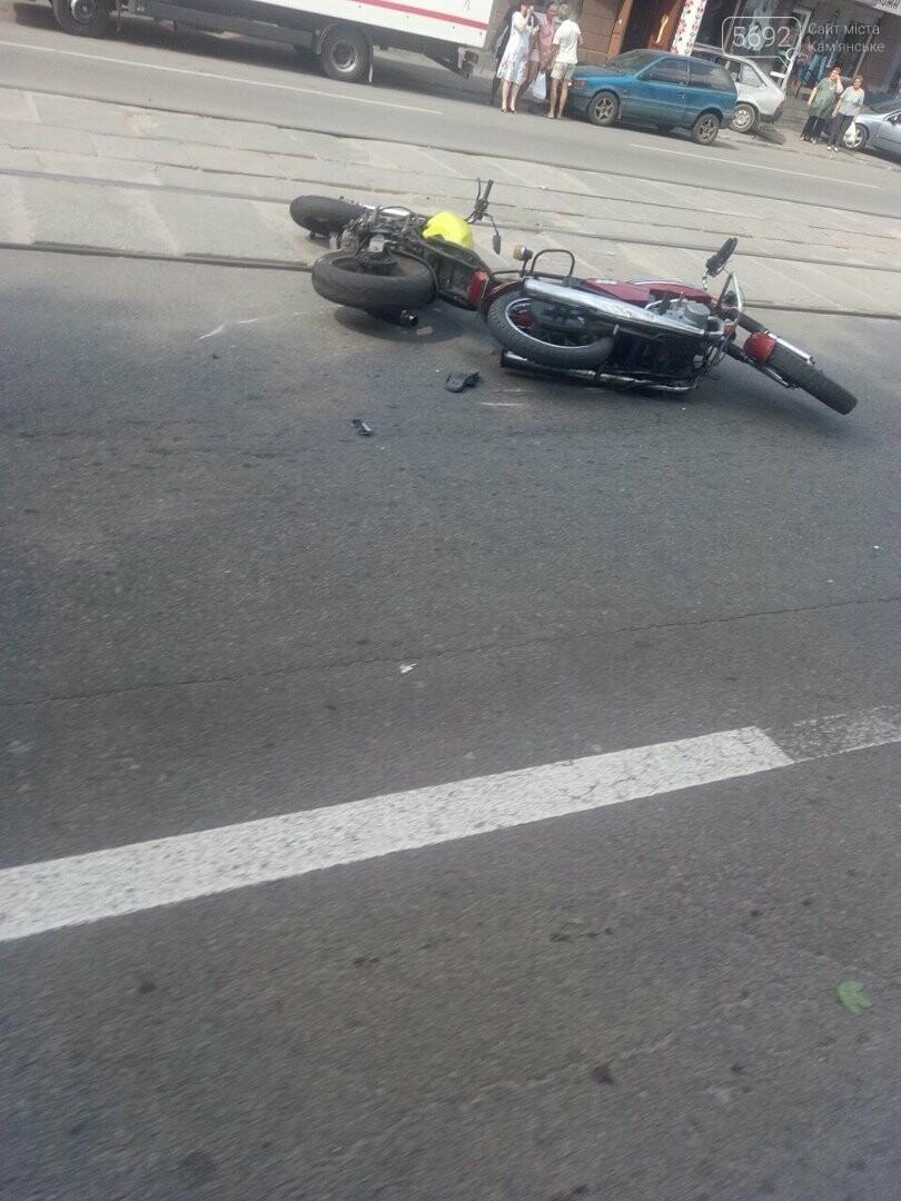 ДТП в Каменском: столкнулись два мотоцикла, фото-1