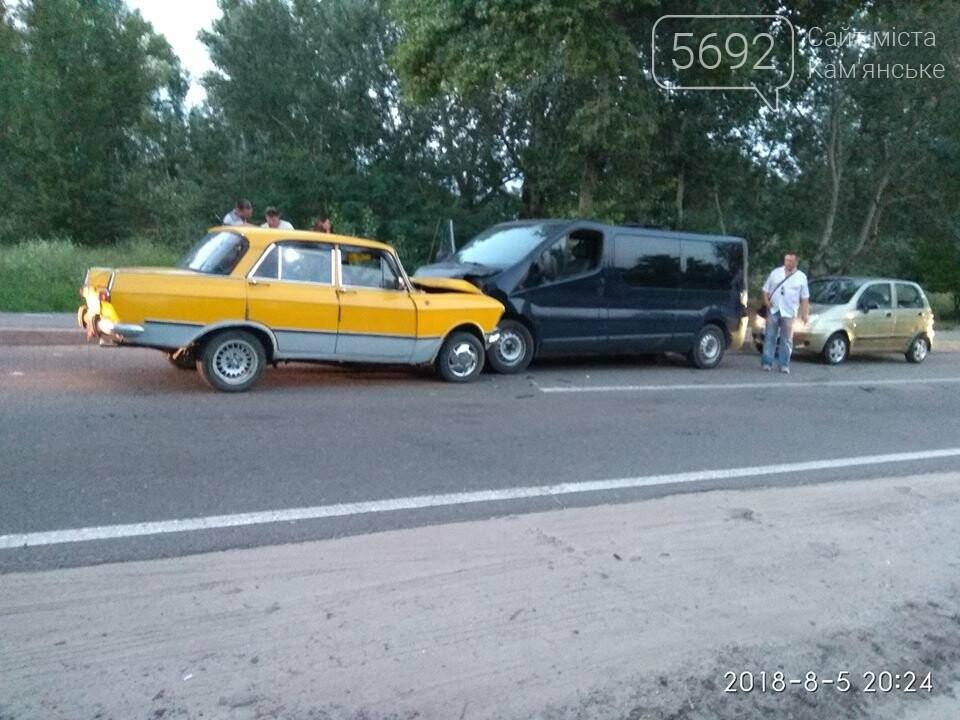 """ДТП в Каменском: """"Москвич"""" протаранил """"Опель"""", фото-1"""