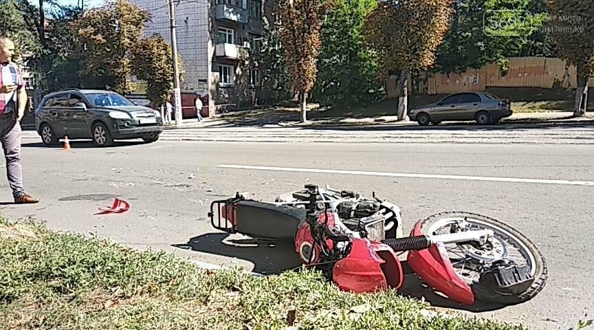 Не пропустил: в Каменском мотоциклист врезался в Opel с польскими номерами, фото-6