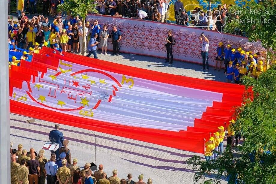 Над Днепром взвился самый большой флаг Украины, фото-11