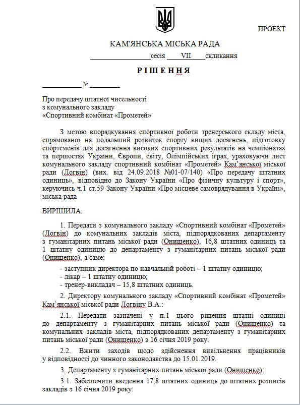 На 29-й сессии Каменского произошел конфликт относительно СК «Прометей», фото-1