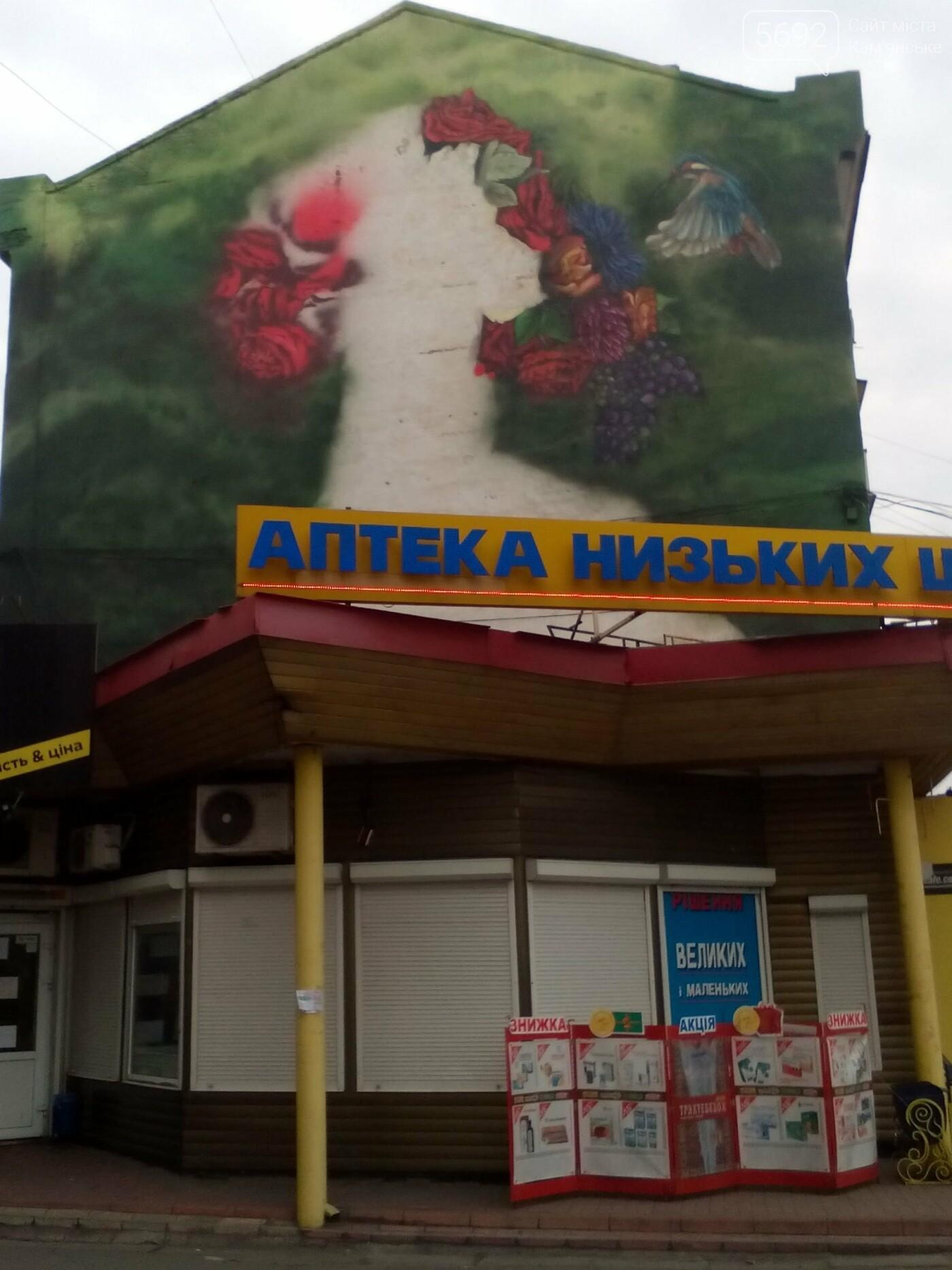 В центре Каменского появится мурал девушки-весны, фото-4