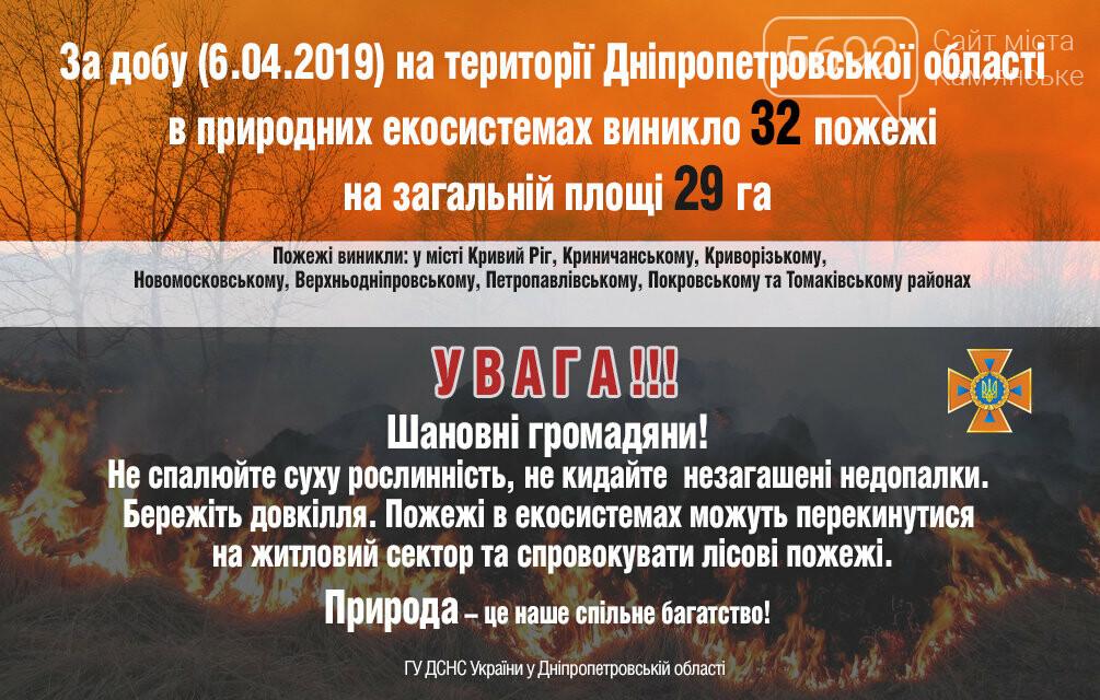 На Днепропетровщине за сутки возникло 32 пожара на площади 29 гектаров, фото-1