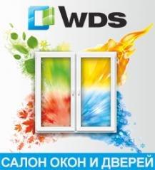 Логотип - Салон окон и дверей WDS, металлопластиковые окна, жалюзи, рулонные шторы в Каменском