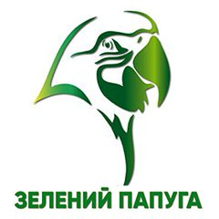 Логотип - Зеленый попугай, Ресторан, Каменское