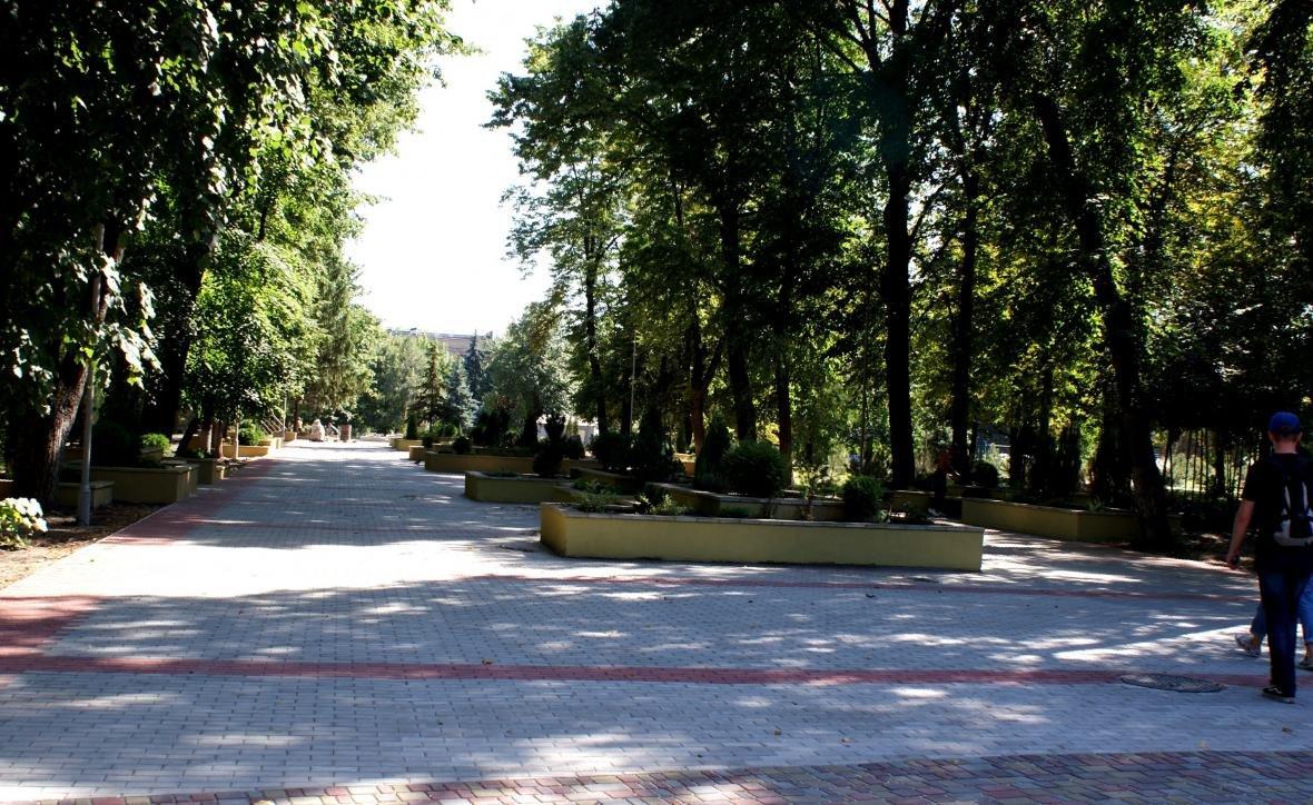 В Каменском проверили ход капремонта центрального парка, фото-7