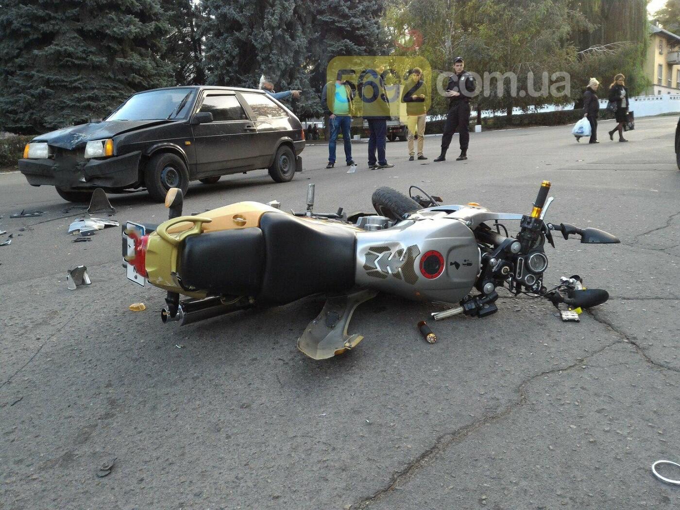 В Каменском сбили мотоциклиста , фото-3