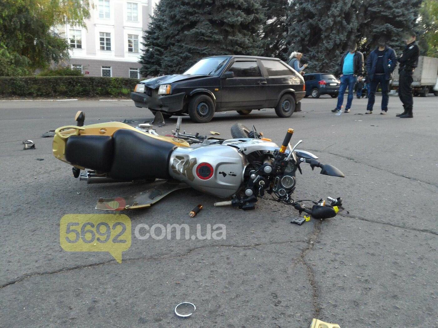 В Каменском сбили мотоциклиста , фото-1