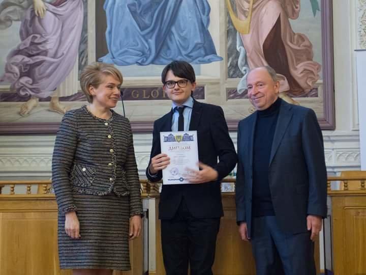 Школьник из Каменского стал стипендиатом Президента Украины, фото-1