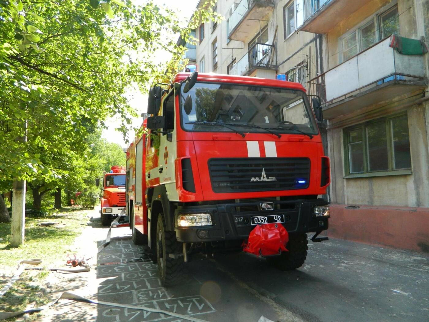 В Каменском на Грушевского горел матрас, фото-4