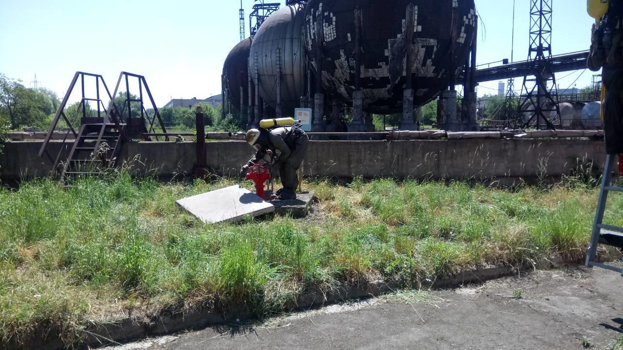 Спасатели Каменского тренировались ликвидировать аварии на Заводе минеральных удобрений, фото-7