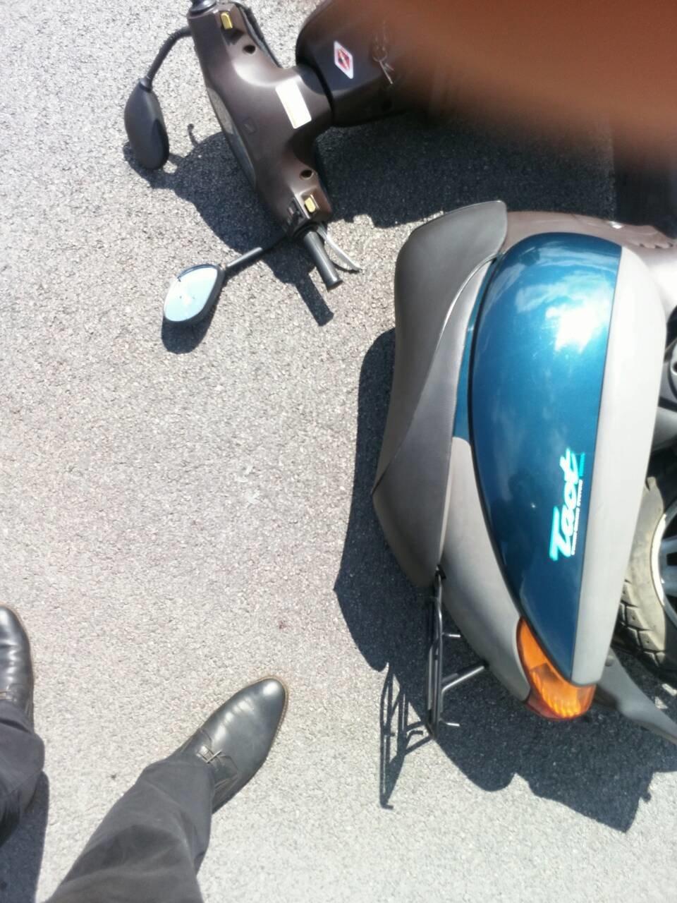 Не разминулись: в Каменском водитель Mercedes «зацепил» мопедиста , фото-4