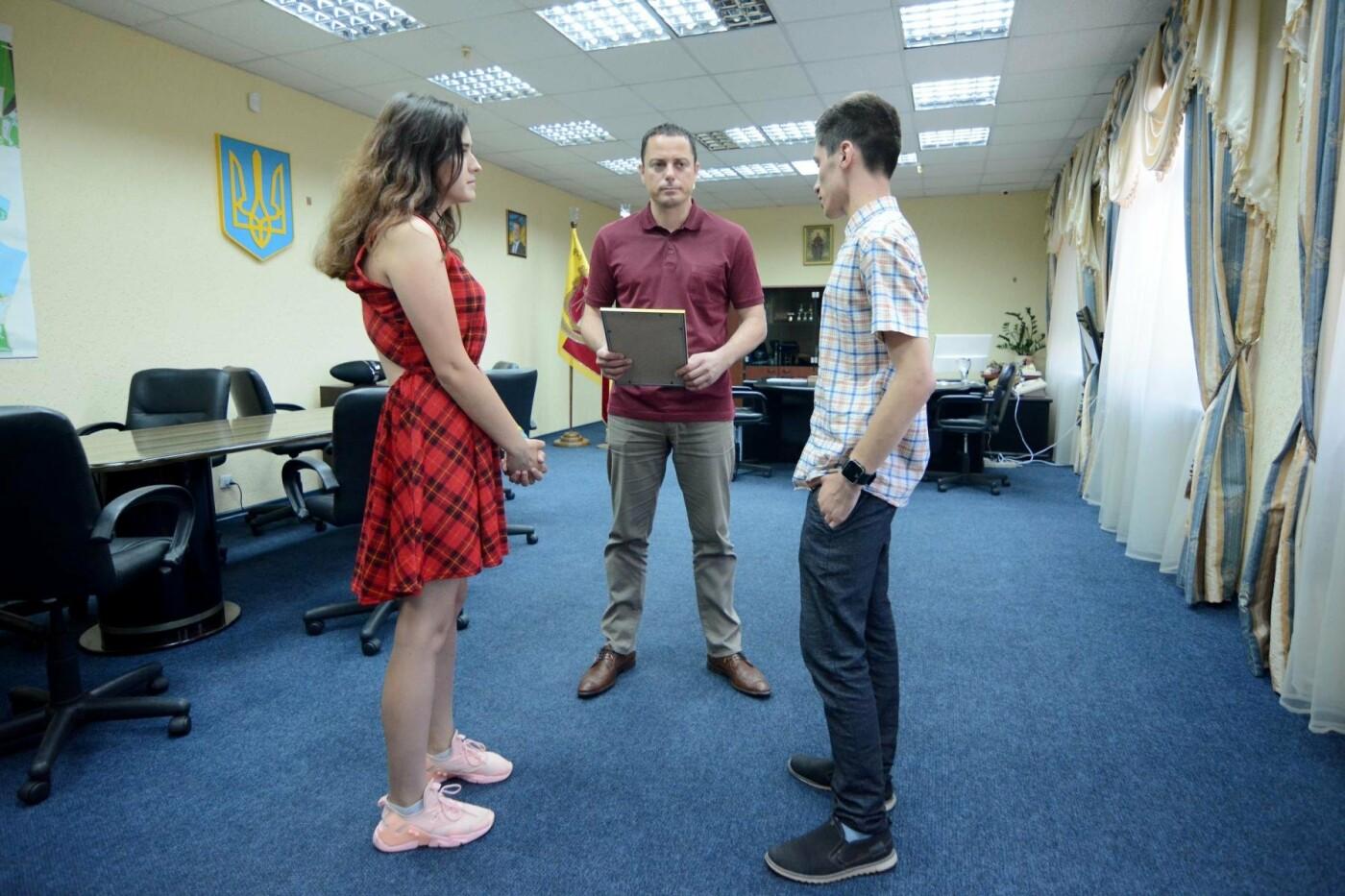 Молодежь Каменского поблагодарила мэра за поддержку, фото-1