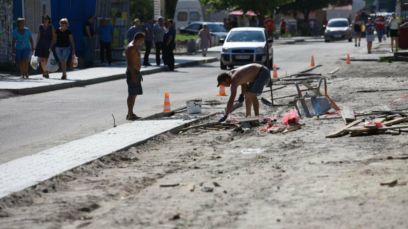 В Каменском восстанавливают тротуары, фото-3