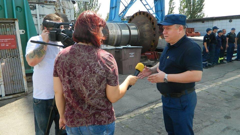"""В Каменском тушили """"пожар"""" на ГЭС, фото-9"""