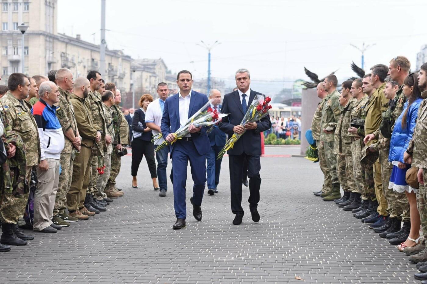 В центре Каменского открыли Аллею памяти воинов АТО, фото-2