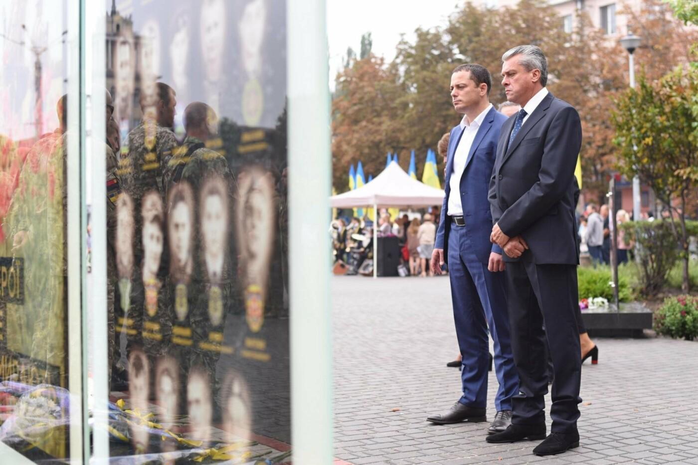 В центре Каменского открыли Аллею памяти воинов АТО, фото-1